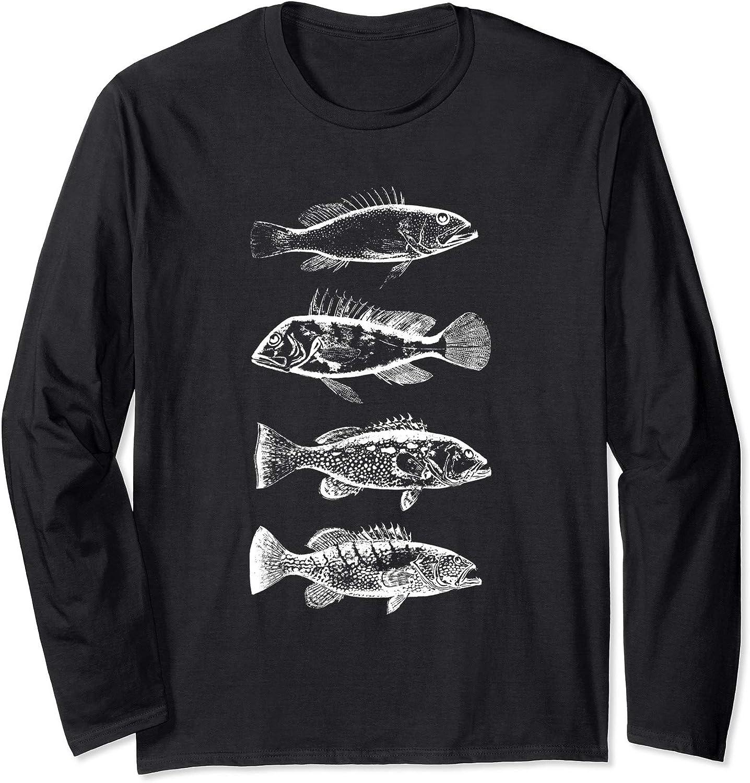 RepYourWater Freshwater Fish Spine Performance Long Sleeve Tee