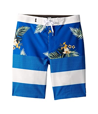 Vans Kids Era Boardshorts (Little Kids/Big Kids) (Lapis Blue/Hawaii Floral) Boy