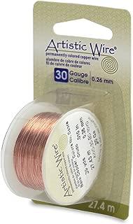 Beadalon Artistic, 30 Gauge, Bare Copper, 30 yd (27.4 m) Craft Wire