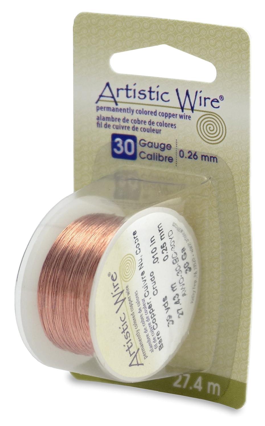 Beadalon Artistic, 30 Gauge, Bare Copper, 30 yd (27.4 m) Craft Wire,