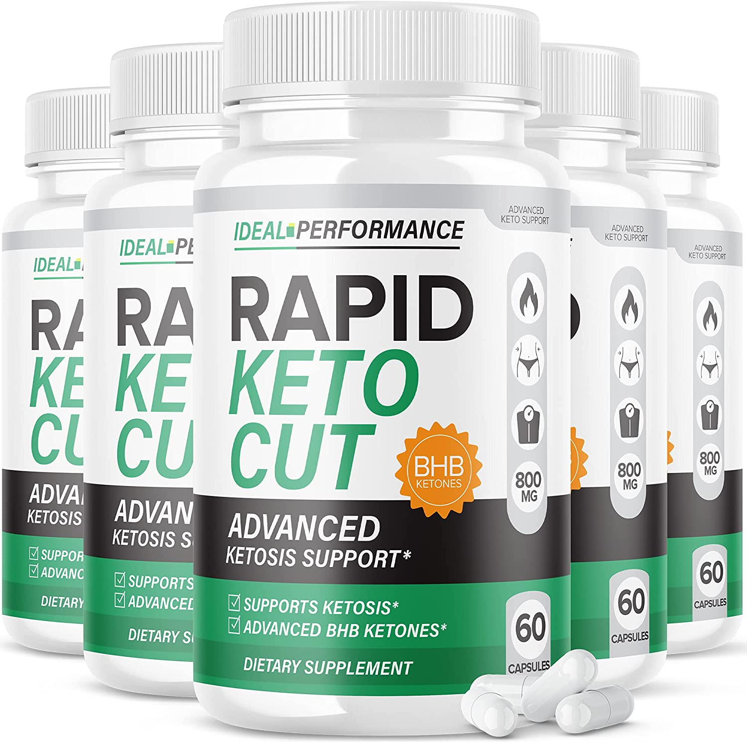 5 Our shop OFFers the best service Pack Rapid Keto Spring new work one after another Cut Pills Ketones Ex BHB Nutriblend Advanced