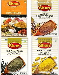 Shan - Spice Variety (Garam Masala, Turmeric, Curry, Black Pepper), 4x100g