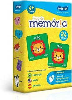 Jogo de Memória - Português, Inglês e Espanhol, Toyster Brinquedos, Multicor