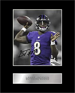 Lamar Jackson Signed Mounted Photo Display Baltimore Ravens #01 NFL Printed Autograph Gift Picture Print