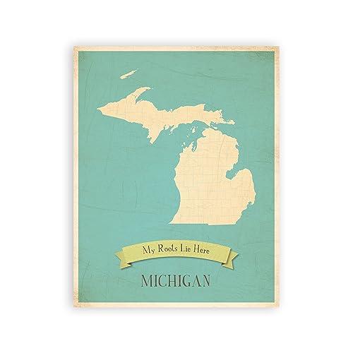 State of Michigan Decor: Amazon.com