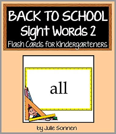 Back to School Sight Words 2 - Flash Cards for Kindergarteners (Back to School Sight Words for New Readers) (English Edition)