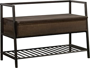 Sauder North Avenue Storage Bench, Smoked Oak finish