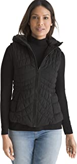 Chico's Women's Hooded Water Resistant All Weather Vest with Climate Control Technology