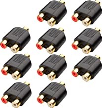 Cable Matters 10-Pack Gold Plated 3.5mm Stereo Jack to 2-RCA Coupler