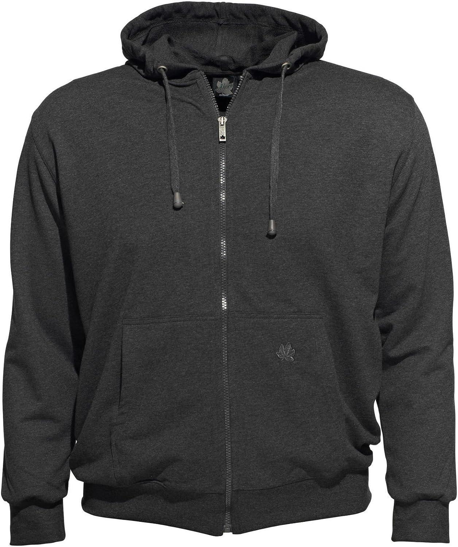 Ahorn Sportswear Kapuzen Sweatjacke in anthrazit - groe Gren bis 10XL, Gre 8XL