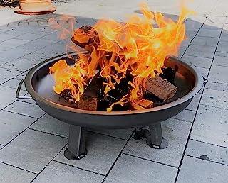 Czaja Stanzteile Feuerschale Kiel Durchmesser 60 cm - mit verstärktem Rand - Feuerschalen für den Garten, Terrasse und Balkon, Feuertonne und Feuerkorb , kleine Feuerstelle für den Garten…