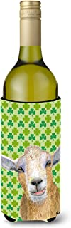 Caroline's Treasures RDR3025LITERK St Patrick's Day Goat Wine Bottle Beverage Insulator Beverage Insulator Hugger, Wine Bo...