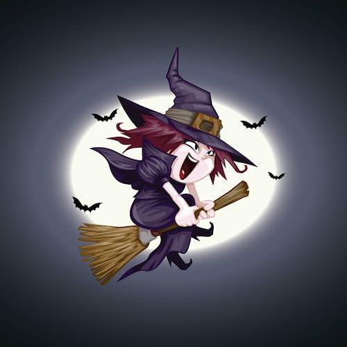 Jogo de aventura de bruxa de vassoura