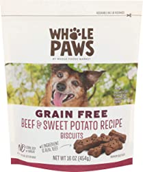 Whole Paws, Dog Biscuit Beef Sweet Potato, 16 Ounce