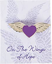 Fun Express - Purple Ribbon Angel Wings Pins - Jewelry - Pins - Novelty Pins - 12 Pieces