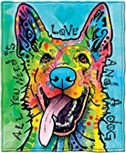 Dawhud Direct Dean Russo Love and a Dog German Shepherd Fleece Throw Blanket