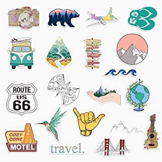 20 Travel and Outdoor Vinyl Stickers for Water Bottles, Laptops Big