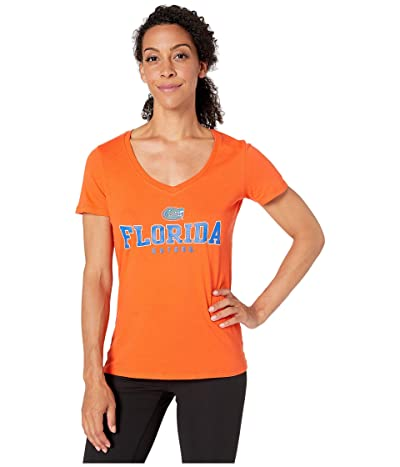 Champion College Florida Gators University V-Neck Tee (Orange 2) Women