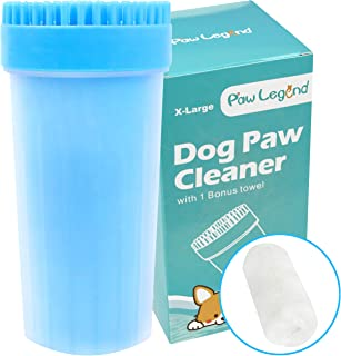 2 in 1 X-Large Dogs Paw Cleaner & Pet Grooming Brush - Portable Upgrade Pet Paw Cleaner with Towel,Soft Silicone Dog Foot Washer for Dog Cat Grooming with Muddy Paws