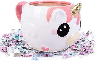 Glitter Galaxy Unicorn Coffee Mug - MeeMee the Pink Unicow - Ceramic - 16 oz