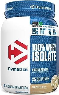 Dymatize Nutrition 100% Whey Isolate 26.4 Oz (1.65lb) (750g) Simple Vanilla, 1.6 Pound