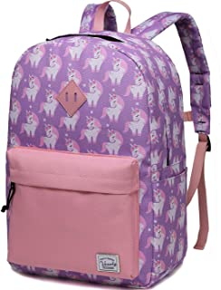 Preschool Toddler Backpack,Vaschy Little Kid Small Backpacks for Preschoolers Children Girls with Chest Strap Pink Unicorn