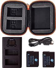 DMW-BLC12E DMW-BLC12 DSTE バッテリーパック 2個 + デュアル バッテリー 充電器 + ポータブル保護バッグ に対応 Panasonic Lumix DMC-G5 DMC-G6 DMC-G7 DMC-GH2 DMC-F...