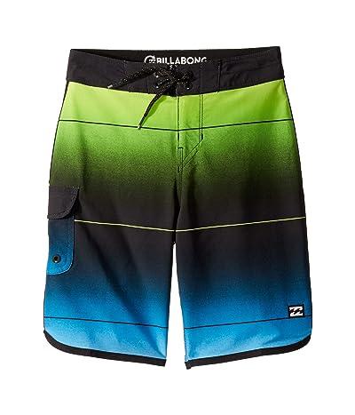 Billabong Kids 73 Stripe Pro Boardshorts (Big Kids) (Neo Green) Boy