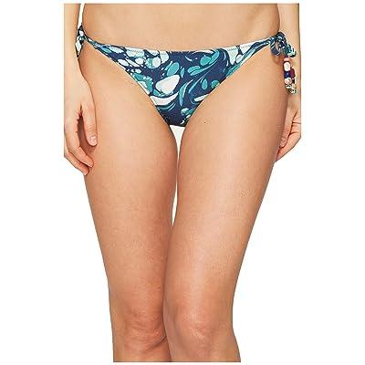 Stella McCartney Mix and Match Marbles Tie Side Bikini Bottom (Blue Marble Print) Women