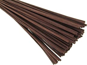 "Breath Me TM Natural Rattan Reed Sticks,Ideal Replace Reeds for Essential Oil Diffusers 12"" X 3mm-Coffee Brown(50 Pcs)"