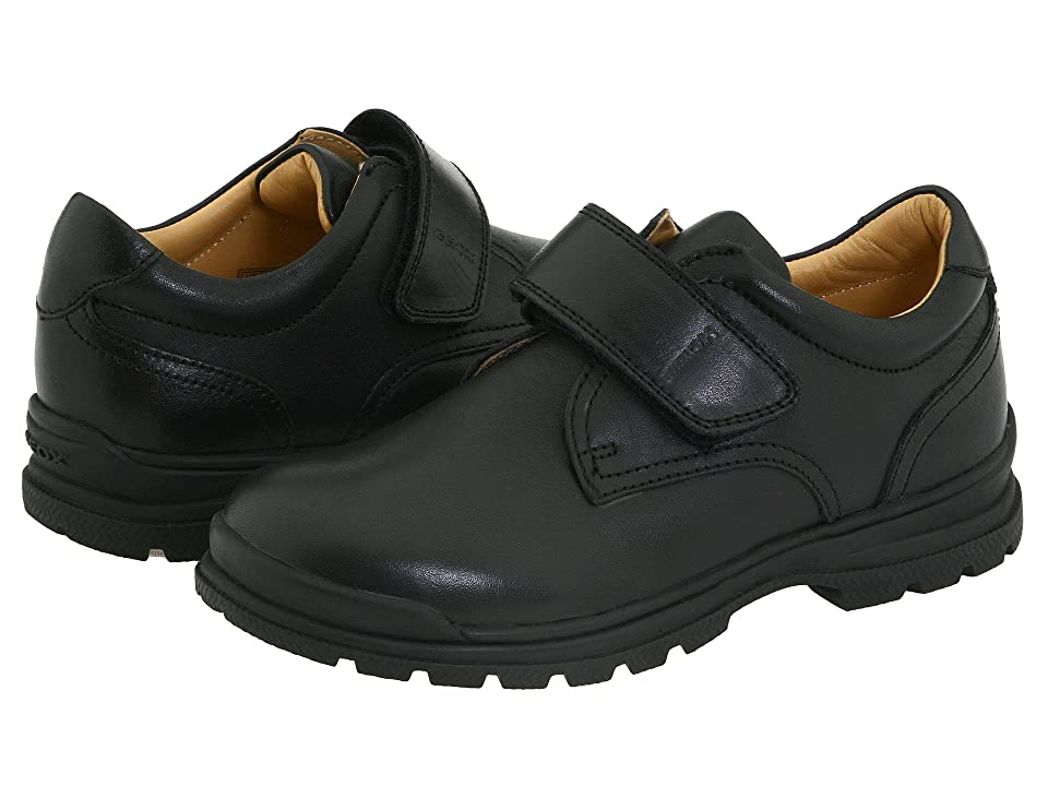 Geox Kids Junior William (Little Kid) (Black) Boys Shoes