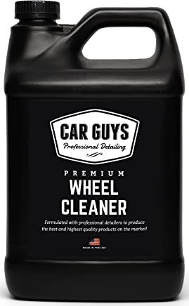 Wheel Cleaner 1 Gallon Bulk Refill - Safe for all Wheels Tires and Rims - Works on Alloy Chrome Aluminum Clear Coated Painted Polished & Plasti Dip - Motorcycle Tire Cleaner by Car Guys Auto Detailing
