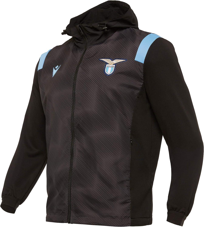 Macron Ssl M20 Anthem Jacket Invernale Full Zip Ner/Celf Sr Anthem 2020/21 Ss Lazio - Chaqueta de invierno Hombre