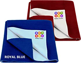 Bey Bee Water Resistant Bed Protector Baby Dry Sheet with Ultra absorbance (RoyalBlue/Maroon)