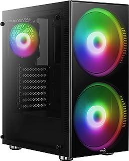 Aerocool Python, Caja de PC ATX, cristal templado, Ventiladores RGB 2x20cm 1x12cm