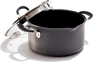 OXO Frying Pan Stock Pot with Lid, 6QT, Black
