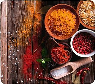 WENKO Crédence de cuisine en verre Epices - Protège-plaque pour plaques de cuisson vitrocéramiques et induction, planche à...