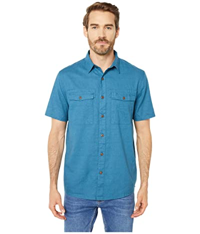 Royal Robbins Seaview Hemp Short Sleeve Shirt (Midnight) Men