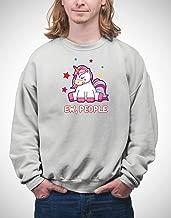 APPLETEE - EW People Sad Introvert Unicorn-01 S1_32 Hoodie Blanket Sweatshirt, Soft Warm Comfortablefor, Men Women, Christmas, Valentine