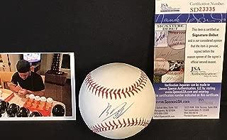 Rafael Devers Boston Red Sox JSA SIGNATURE DEBUT COA Autographed Signed OMLB Baseball