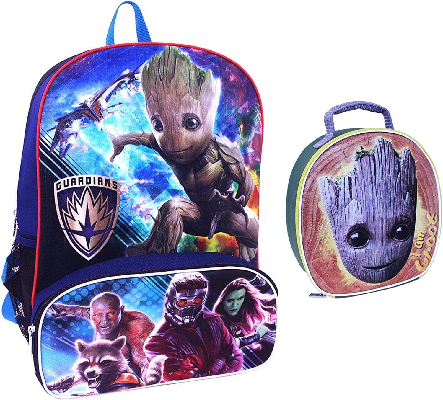 Marvel Guardians of the Galaxy 16 inch Backpack & Groot Lunch Tote