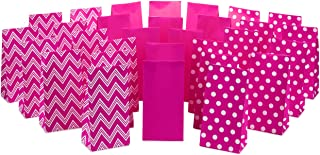 Hallmark Pink Party Favor and Wrapped Treat Bags, Assorted Designs (30 Ct, 10 Each of Chevron, White Dots, Solid) for Vale...