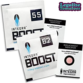 Integra Boost 4g Gram Humidity Control Packs 62% (100 Count) - Includes Free Legalize Tomatoes Sticker