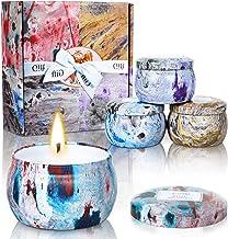 مجموعة هدايا من الشموع المعطرة لعيد الحب، 4 عطور 125 مل شمع الصويا الطبيعي، شموع بخاصية إطلاق الروائح العلاجية تستخدم للاس...