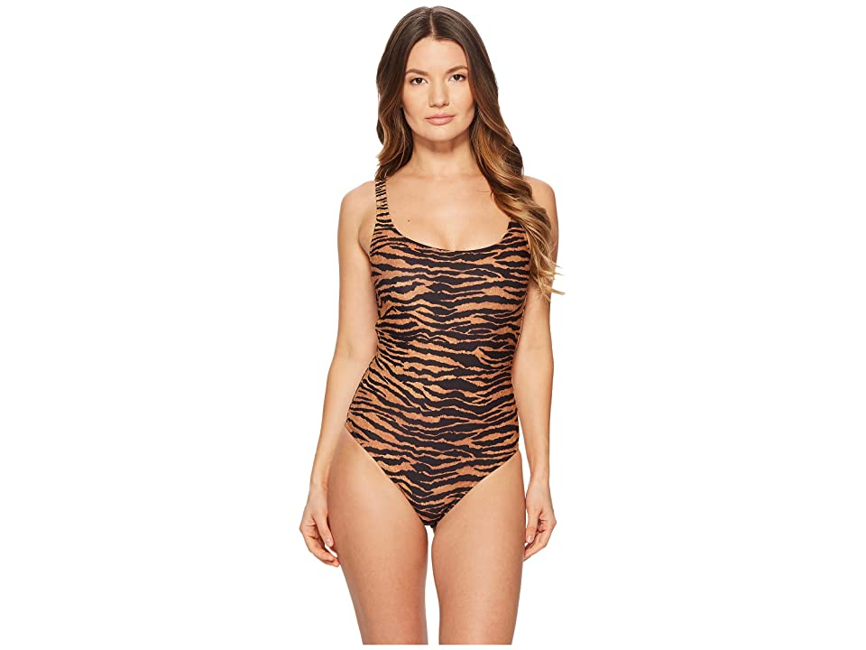 Moschino Tiger Swimsuit (Brown Multi) Women