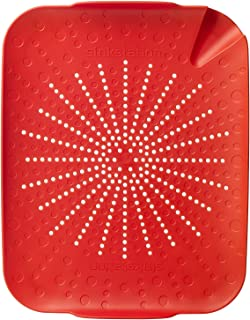 New Soda 6002RD Sinkstation Flat Colander, Red, BPA Free