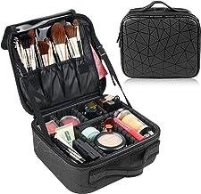 Makeup Travel Bag, Women Cosmetic Case Organizer Portable Travel Makeup Train Case with Adjustable Dividers for Makeup Bru...