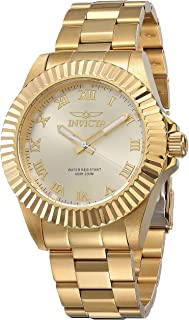 Invicta Men's Pro Diver 44mm Gold Tone Stainless Steel Quartz Watch, Gold (Model: 16739)