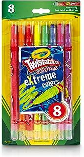 Crayola Twistables Extreme Color Crayons-8/Pkg (52-9738)