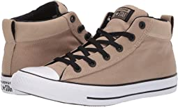 10b8d955f5a208 Khaki Black White. 146. Converse. Chuck Taylor® All Star® Street Uniform Mid